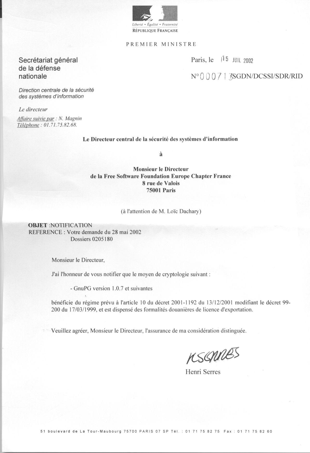 Fsf France Dcssi